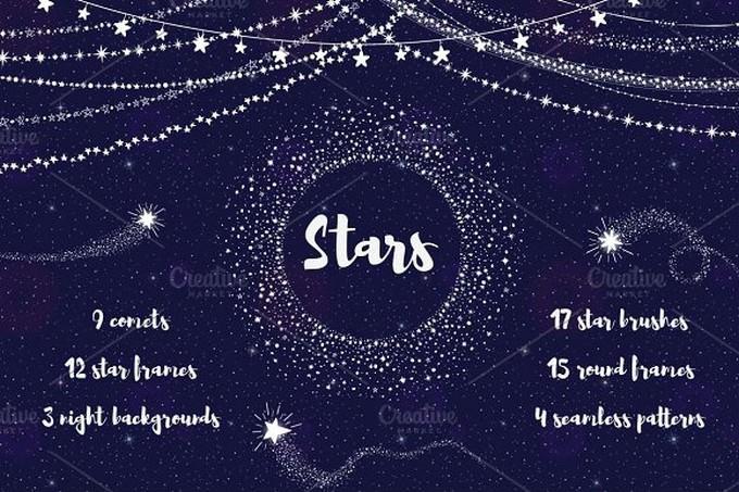 Stars Background Set