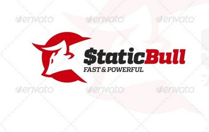 Static Bull grid Logo template