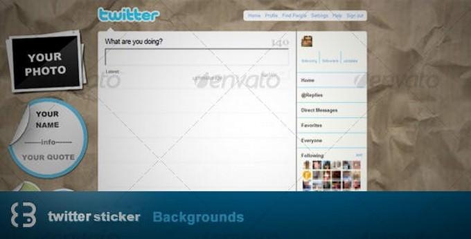Sticker Twitter Background
