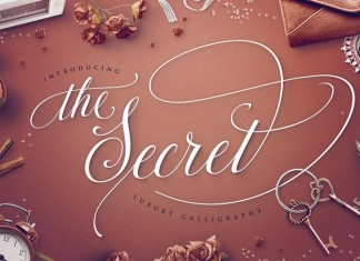 TheSecret Luxury Calligraphy Script
