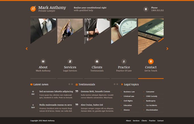 Law Lawyer Business Template