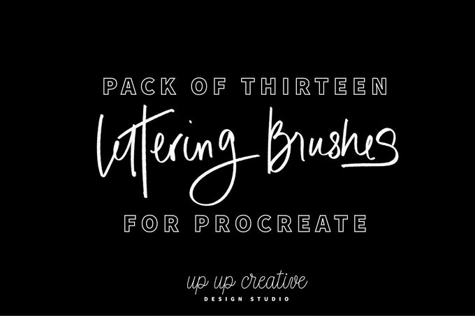 Thirteen Procreate Lettering Brushes