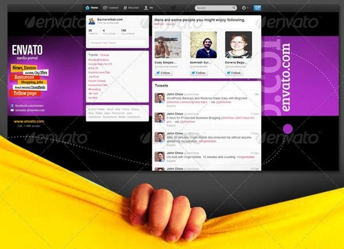 Twitter Background for News Website