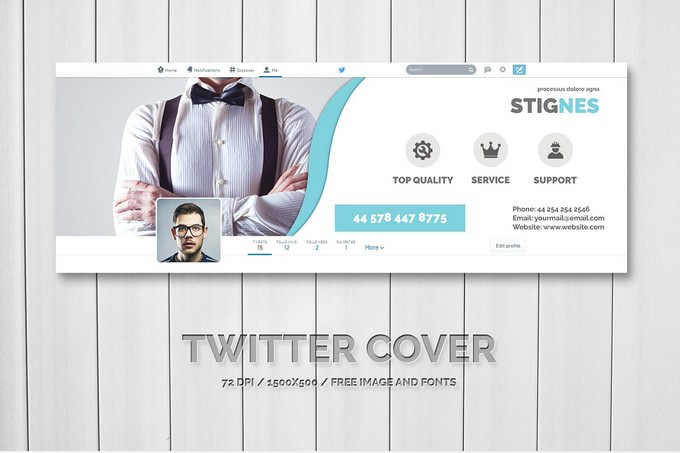 Twitter Header Cover Template