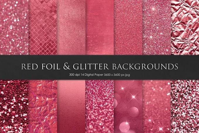 Valentines Day Foil Glitter Texture