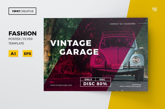 Vintage Garage Flyer