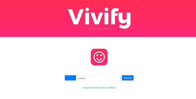 Vivify Free CSS Animation Library