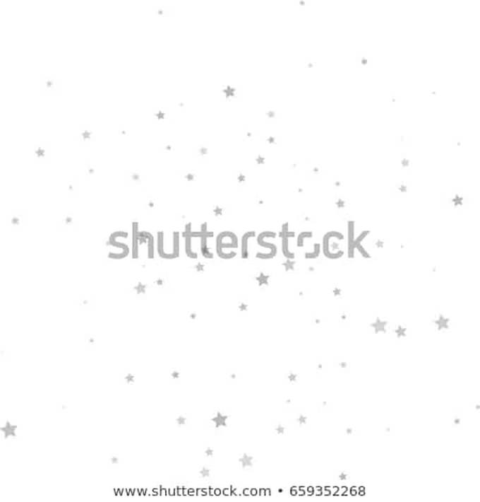 White Silver Starry Background