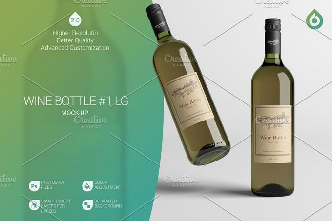 PSD template of Bottle