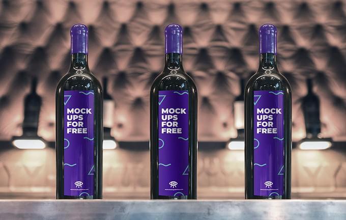 Bottle Label PSD Mockup