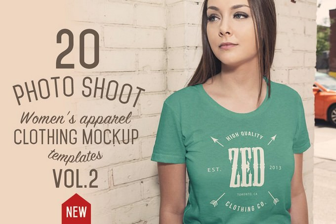 20 Women's Apparel Mockups