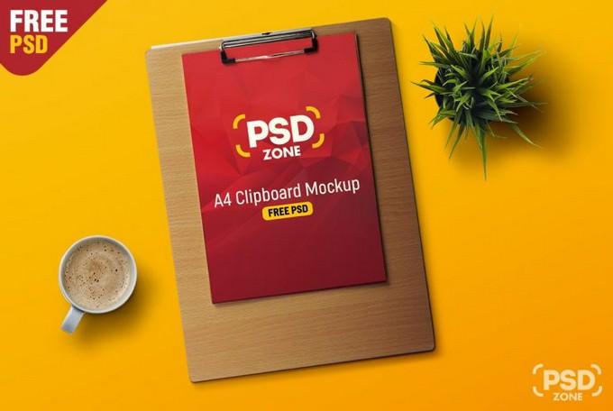 A4 Paper Clipboard PSD