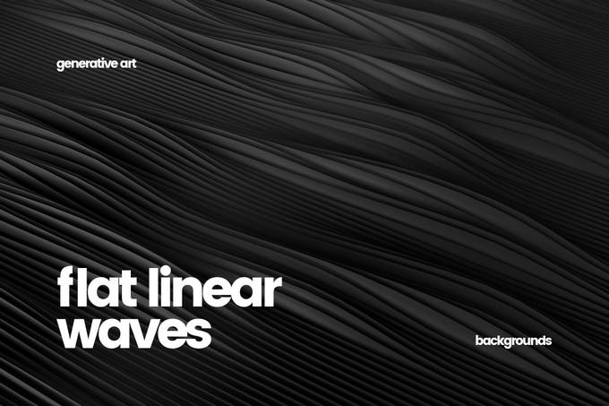 Abstract Flat Linear Waves
