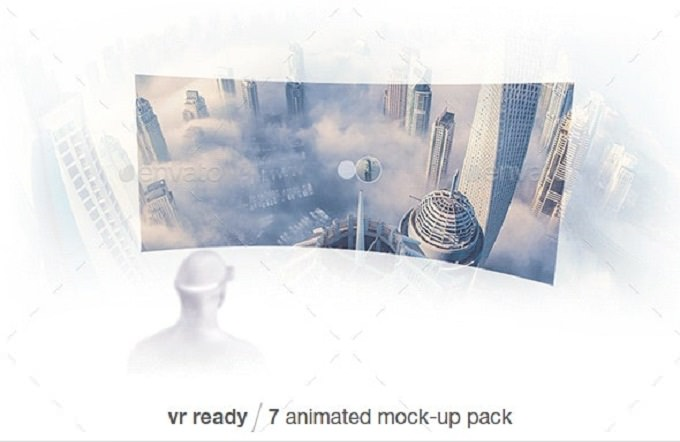 Pack Of Animated VR Mock-up PSD