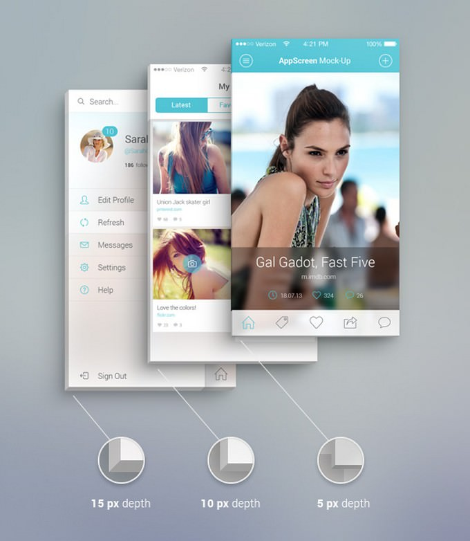 Front View PSD template