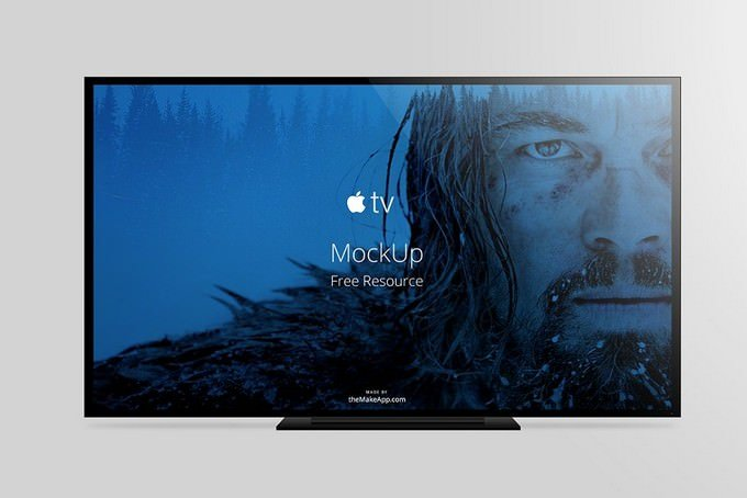 Apple TV vector Mockup