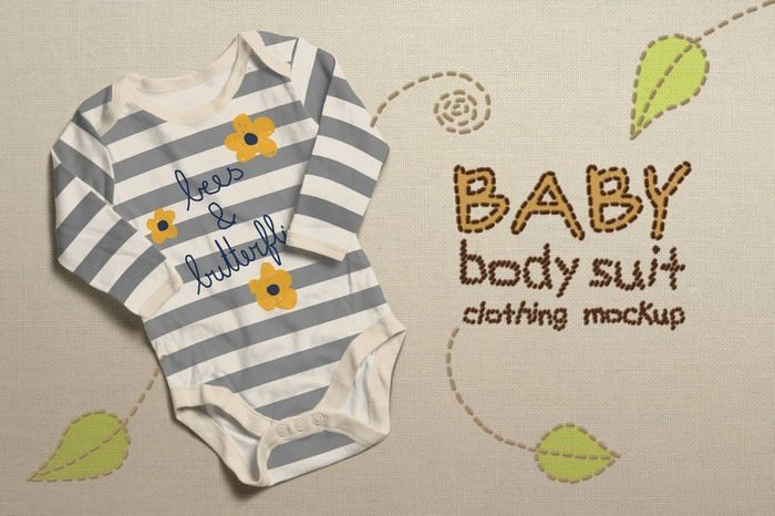 Baby Bodysuit Clothing Mock-up