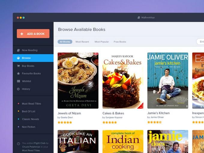Book App PSD