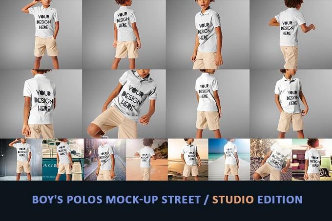 Boy's Polos Mock-up
