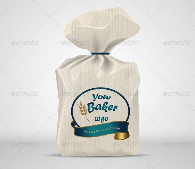 Bread Paper PSD template