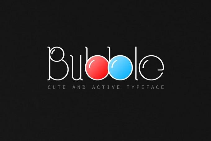 Bubble Typeface