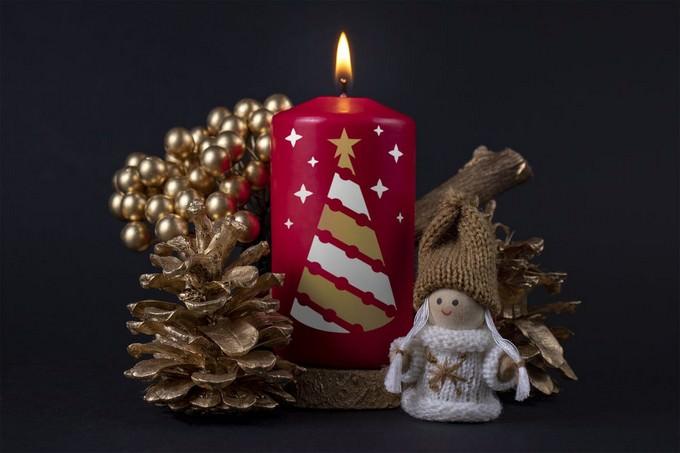 Christmas Candle Mockup