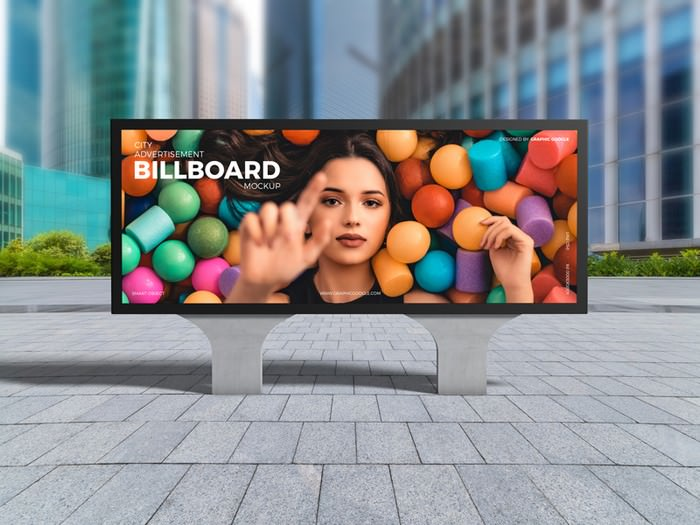 City Advertisement Billboard Mockup PSD