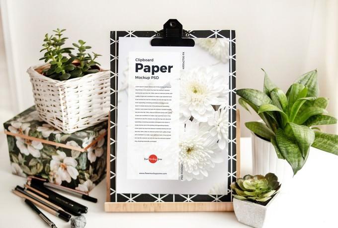 Clipboard Paper PSD