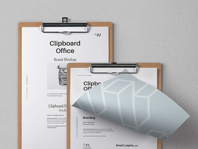 Clipboard Stationery Mockup