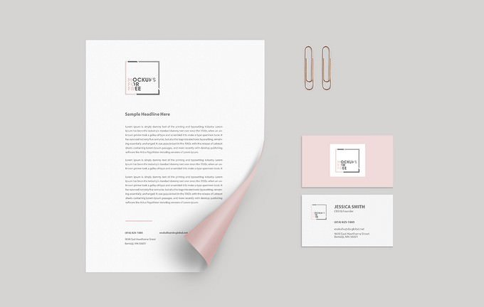 Corporate Letterhead Identity Mockup