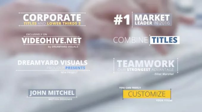Corporate- Lower Thirds Templates