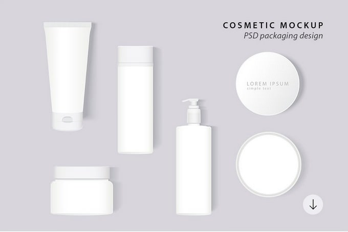 Cosmetic Packaging PSD