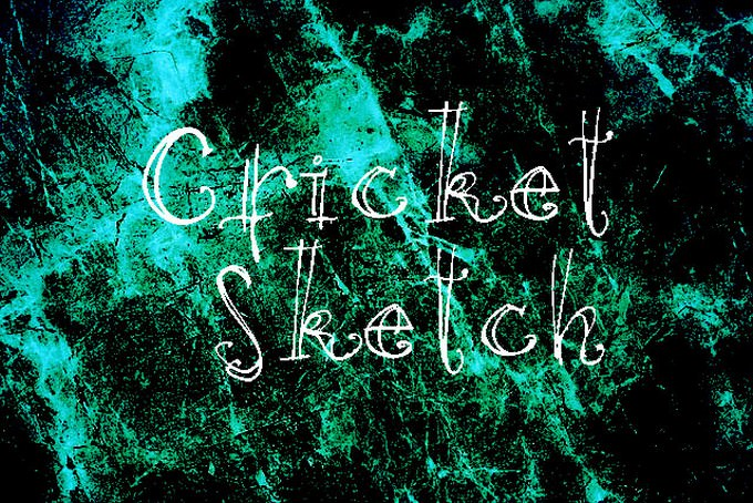 Cricket Sketch Font