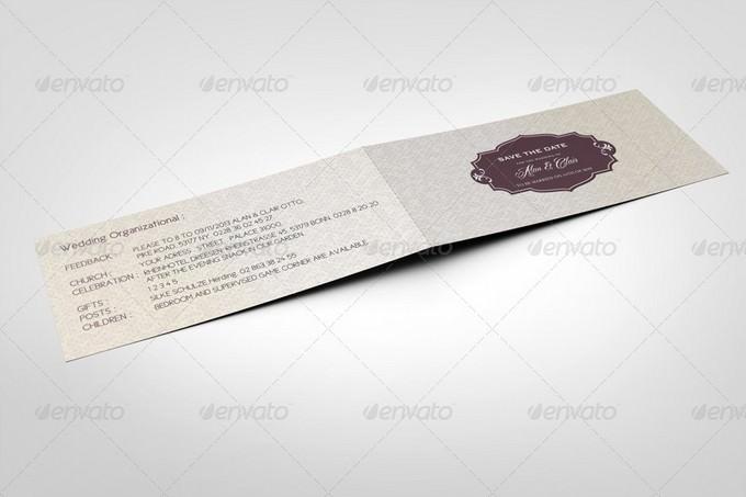 DL Folded Invitation Card