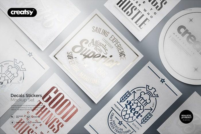 35+ Best Sticker Mockup PSD Templates 2019 - Templatefor