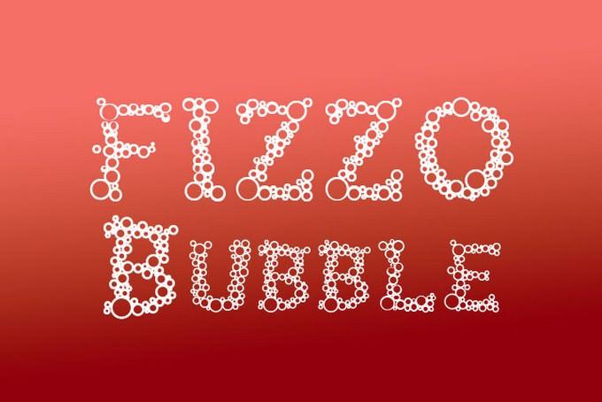 FIZZO - A Bubble Letter Fonts