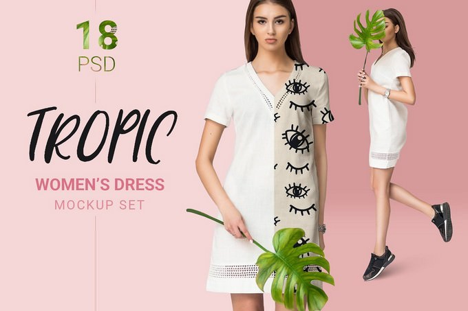 Female Dress Clothing Mockup