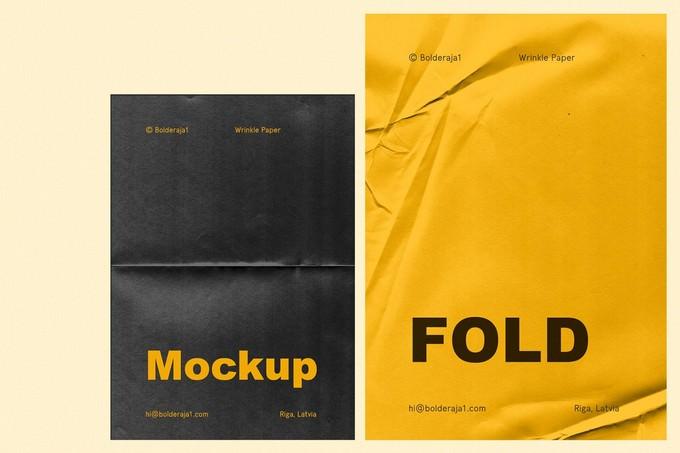 Fold 6 Wrinkle Paper
