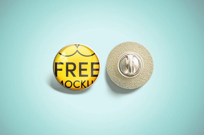 Free Pin Mockup