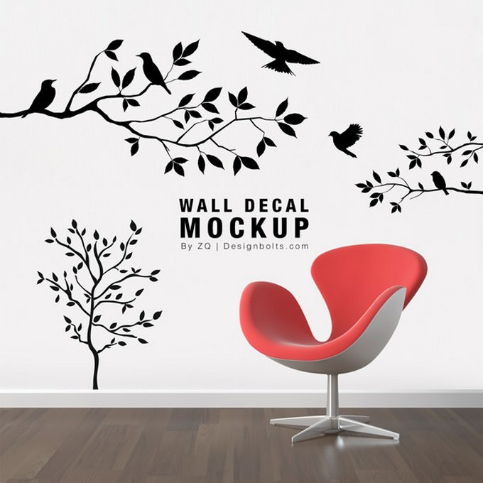 Wall Sticker Mockup