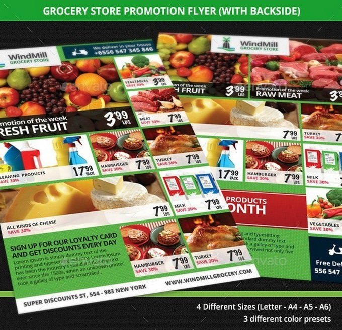 Grocery Store Promotions Flyer