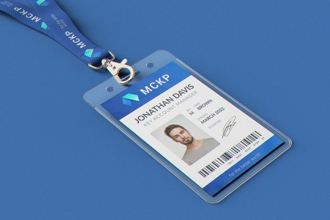 Hanging ID Card Holder