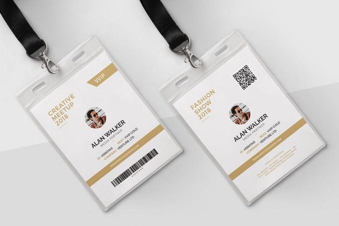 Hanging identity card PSD mock-up
