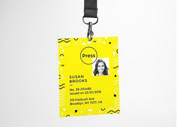 Hanging ID Card PSD Free
