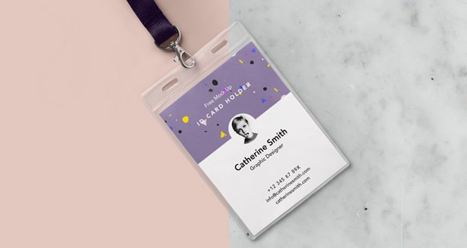 Hanging Identity Card Holder