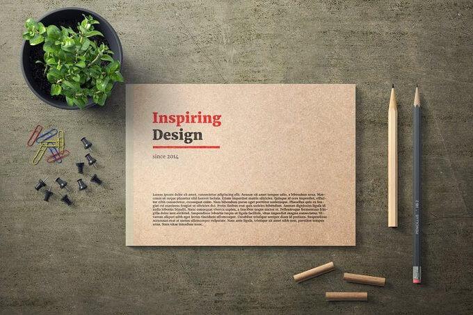 Inspiring Notebook PSD Mock-Up