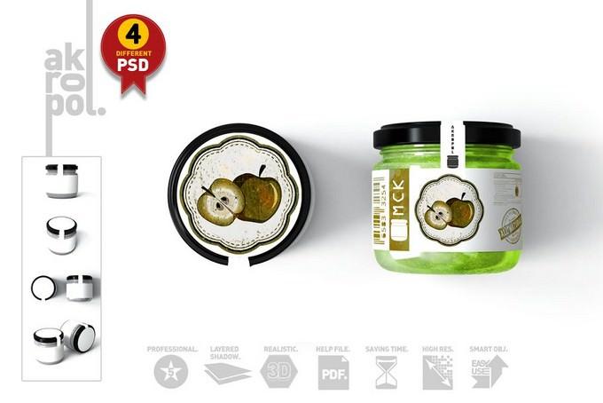 Jar Mockup PSD