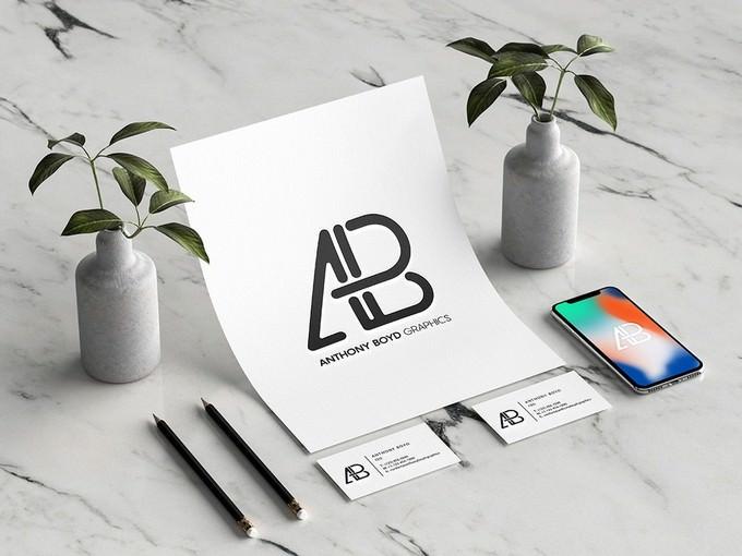 Letterhead Branding Identity Mockup