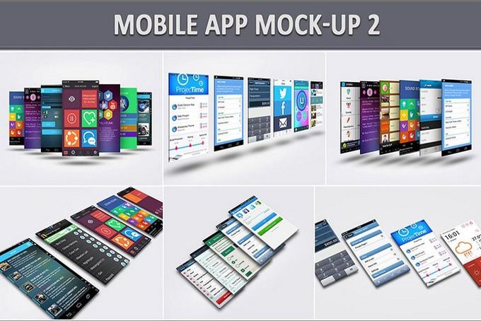 Stunning Mobile App PSD