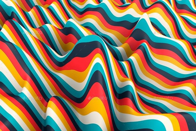 Multi-colored Striped Waves